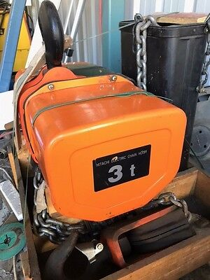 Hitachi electric chain hoist 3 ton