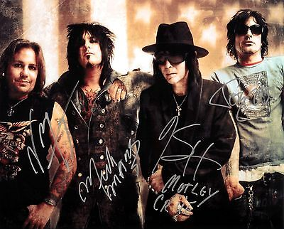 Motley Crue Signed Reproduction Poster Saints Of Los Angeles