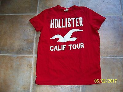 Men's Hollister T Shirt, Short Sleeve, Red, Size S Small