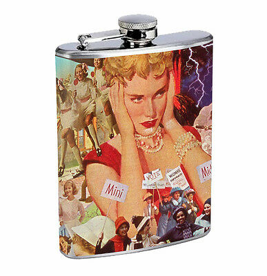 Female Empowerment 01R Flask 8oz Stainless Steel Hip Drinking Whiskey