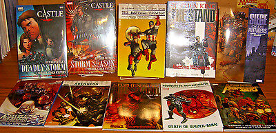 Lot of 10 Brand New Marvel TP HC GN Avengers Spider-Man Capt America Castle