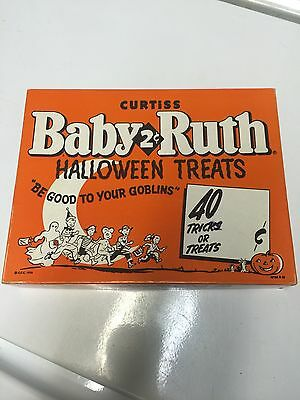 VINTAGE 1950's CURTISS BABY RUTH HALLOWEEN CANDY BOX STORE ADVERTISING DISPLAY