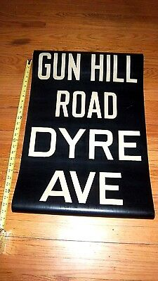 Vintage Nyc Subway R17 Irt Collectible Roll Sign Gun Hill Rd Dyre Ave Bronx Ny