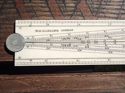 W.h. Harling London Ivory Sector & Scale Rule