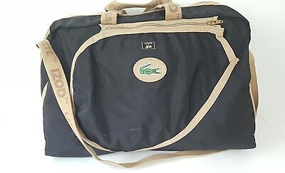 VTG 1980's *Lacoste by Lark Black Racquetball/ Tennis Gym Bag* Carry On Duffle