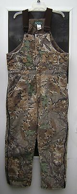 camouflage camo insulated bib overall coveralls hunting coming! men's large