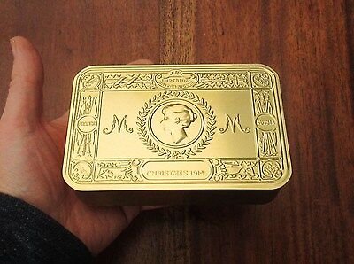 WW1 Princess Mary 1914 Christmas Soldiers Trench Tobacco Box Tin - Replica Prop