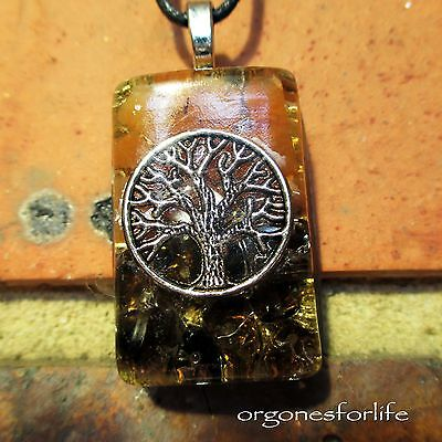 Orgone 'tree Of Life' Crystal Energy Healing Pendant