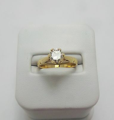 18ct YELLOW GOLD 1/2CT DIAMOND SOLITAIRE RING -VALUED@$2635 COMES WITH VALUATION