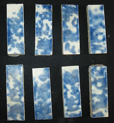 ANTIQUE LOT of 10 VICTORIAN FIREPLACE SURROUND BORDER TILE FROM CHICAGO MANSIONS