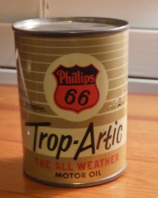 Vintage Phillips 66 Trop-Arctic  Motor Oil Can Bank - 4 Oz. Size