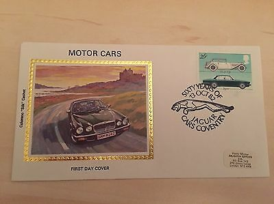 Collectable & Rare Benham Silk Motor Cars First Day Cover - Jaguar 1982