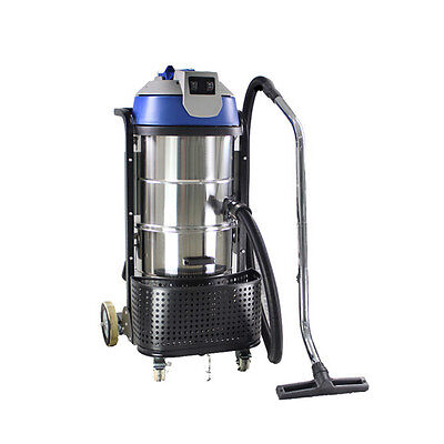 HIGA 110V 3000W Stainless Steel VAC Industrial Grade Vacuum Cleaner Wet Dry 90L