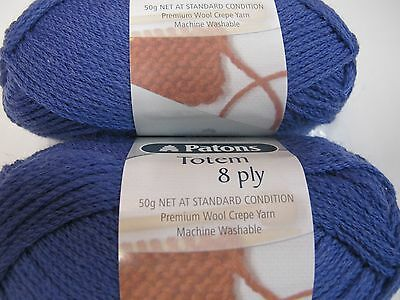 Patons Classic Totem ,pure Wool,10 Balls Mariner 50G.no 4372,disc Colour