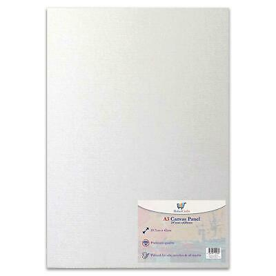 A3 Artist Canvas Boards Primed Panel Acrylic Oil Painting 100% Cotton