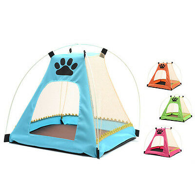 Cute Pet Dog Cat Playpen Tent Portable Exercise Fence Kennel Cage Crate