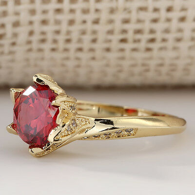 Women Lady Gold Filled Jewelry Wedding Engagement Crystal Ring Display Fashion