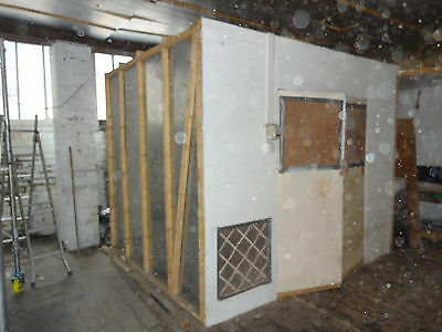 paint booth c/w ventilation & filters