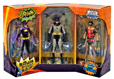 Batman 66 Classic TV Series Batman, Robin and Batgirl Figure 3-Pack - Adam West