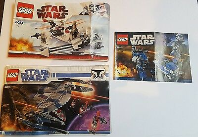 LEGO Instruction Manual Star Wars Books only No Parts - Free Post