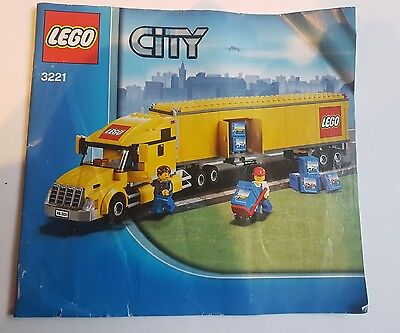 LEGO City Truck #3221 Instruction Manual only - Free Post