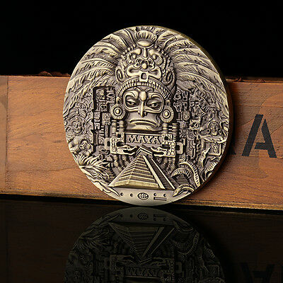New 82mm Brass Great Maya Bronze Color Commemorative Coins Collection Gift 200g