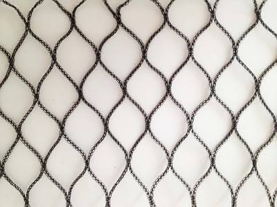 100m x 4m Wide Heavy Duty Bird Netting fruit cage crop protection black 7-10 yrs