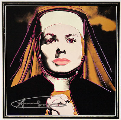 "(480) Andy Warhol, HANDSIGNIERT, ""Ingrid Bergman - The Nun"""