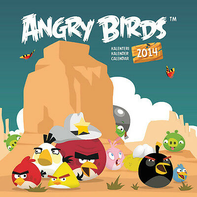 2014 Angry Birds Calendar Collectable Scrapbooking Prints