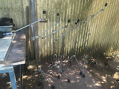 6 Pearl  Drum Hardware Boom Straight Cymbal Stands