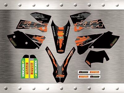 "KTM EXC  2005-2007 ""New"" Stickers Graphics Full Kit"