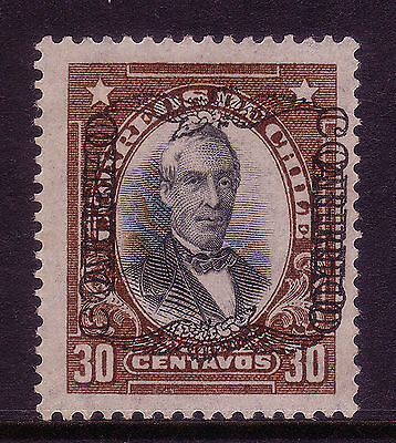 Chile Air Post 1928 30 C DOUBLE OVERPRINT ONE INVERTED | Sc. #C18a | VERY RARE!