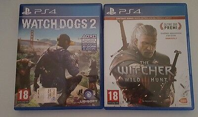 Watch dogs 2 + The witcher 3 ps4