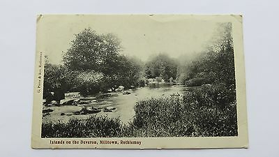 Postcard Milltown of Rothiemay, Islands on the Deveron. Posted 1910.
