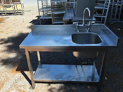 Commercial Sink Stainless Steel Catering Kitchen Single Bowl
