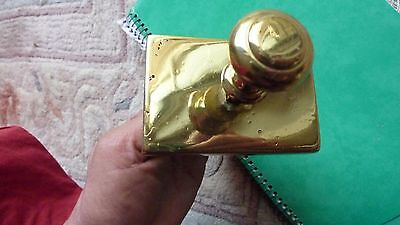 Antique Rectangular Brass Door Bell Pull -  Refurbished