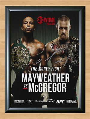 Mayweather vs McGregor UFC Boxing Signed Autographed A4 Print Poster Photo belt