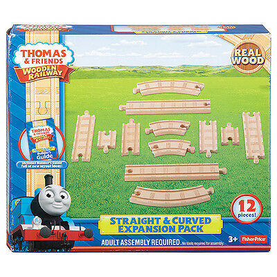 Fisher Price Thomas & Friend Wooden Railway Straight Curved Expansion Pack Y4089