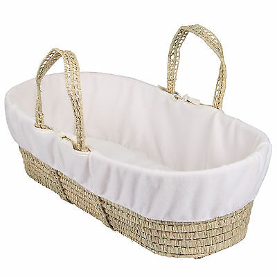New Clair De Lune Cream Super Soft Fleece Liner For Palm & Wicker Moses Baskets
