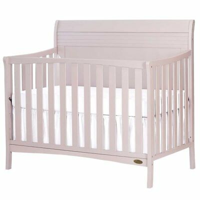 Dream On Me Bailey 5 in 1 Convertible Crib in Blush Pink