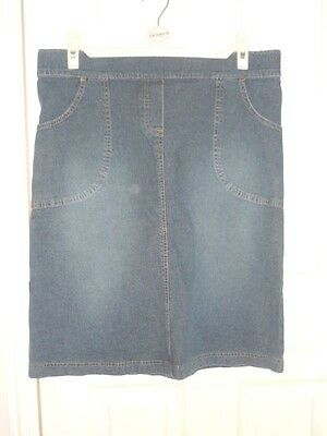 "JoJo MAMAN Bebe Maternity wear Denim Skirt size 10 9Waist 34"" expand to 36"")"