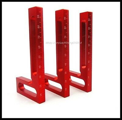 Aluminum Alloy rectangular positioning 90 degree square woodworking ruler