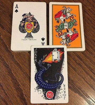 MINT General Electric Playing Cards Antique Advertising Bicycle Vintage Rare US