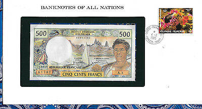 Banknotes of All Nations French Polynesia 1977 500 Francs UNC P1a Serie A.3