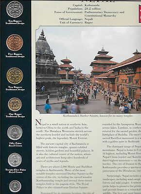 Coins from Around the World Nepal 1996 - 2001 BU UNC 10, 5 Rupees 1997 2 Rp 1996