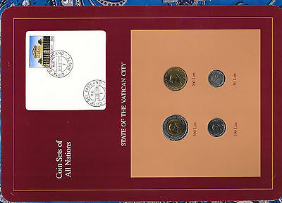 Coin Sets of All Nations Vatica UNC 500, 200, 100 Lire 1991 50 Lire 1992