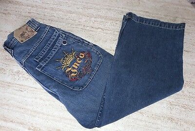 JNCO 90s Vintage Kid's Crown Wide Leg Skater Jeans Denim Blue 12 JNCO 85
