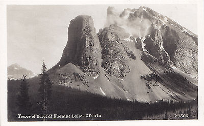 Tower of Babel Moraine Lake BANFF Alberta Canada A.S.N. Real Photo Postcard 1309