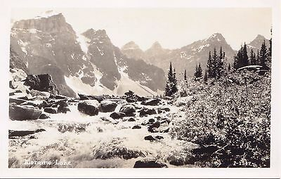 Moraine Lake BANFF Alberta Canada A.S.N. Real Photo Postcard P-1347