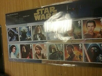 Royal Mail Mint Stamps collection Star Wars ref 518 20.10.15